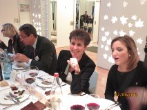 In primo piano Giulia Bonelli, presidente del nostro Rotaract, con gli amici francesi