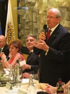 L'affettuoso saluto di Alamanno Contucci. Alla serata erano presenti tutti i Presidenti del Raggruppamento Toscana 2
