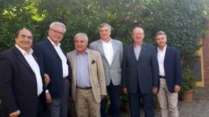 Da sinistra: Claudio De Felice (Rc Valdelsa), Carlo Vallesi (Rc Chiusi-Chianciano-Montepulciano), Sandro Fornaciari (Rc Siena), Vincenzo Pagano (Rc Siena Est), Alamanno Contucci (Assistente del Governatore), Marco Bernabei (Rc Alta Valdelsa)